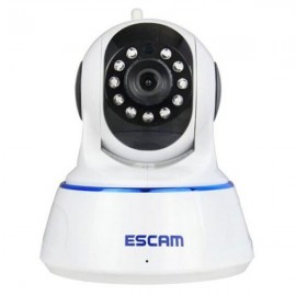 ESCAM QF002 WIFI 720P P2P Night Vision IP Camera US Plug White