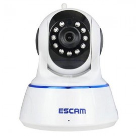 ESCAM QF002 WIFI 720P P2P Night Vision IP Camera EU Plug White