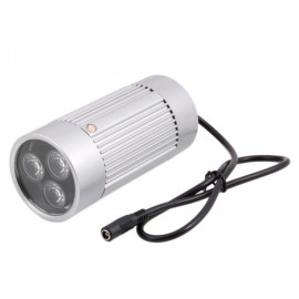 3-LED White-light Illuminator Lamp for CCTV Camera Silver