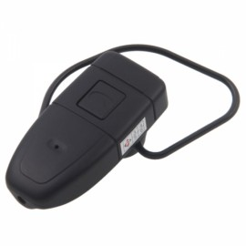 4GB HD Bluetooth Earphone Hidden Camera Black