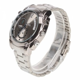 16GB 1920 x 1080 HD Waterproof Watch IR Night Vision Video Recorder Silver Q-40