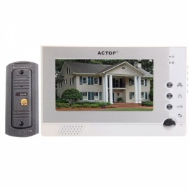 "7"" TFT Monitor Wired Color Video Door Phone Home Security System"