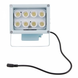 8-LED Illuminator Lamp for CCTV Camera White