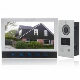 """ACTOP VDP-320+CAM-205A 7"""" TFT Video Door Phone Doorbell with Card Reader White"""