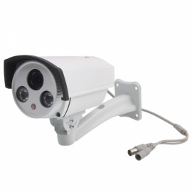 "1/3"" CCD 600TVL Dual-IR LED Array Round Big Eye Shape Security Camera with Black Cover"
