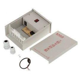 DS-100A2 12V 2A Waterproof Outdoor Enclosure Kit for CCTV Surveillance System Power Supply Light Grey
