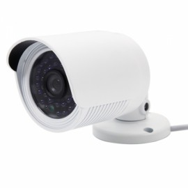 1.0MP CMOS 720P H.264 IR-CUT Infrared Motion Detection Cylinder Shape IP Camera White