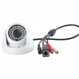 IPCC-D08 720P HD P2P H.264 ONVIF 2.2 NAS Infrared Dome IP Camera White