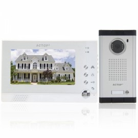 "VDP-313+CAM-211 7"" Metal Wired Camera Video Door Phone Doorbell White"