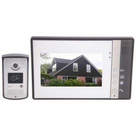 "7"" Color TFT SY802MEID11 Wired Video Door Phone with 5 ID Card Keys"
