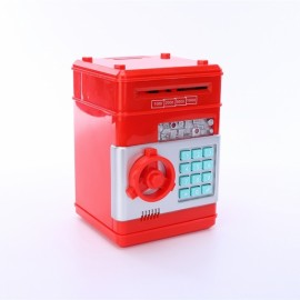 Mini ATM Electronic Password Piggy Bank Childrens Safe Box Red