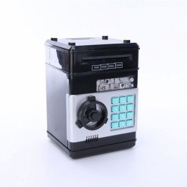 Mini ATM Electronic Password Piggy Bank Childrens Safe Box Black