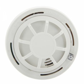 YH-6288 12V DC Powered Wired Temperature Detector Alarm White