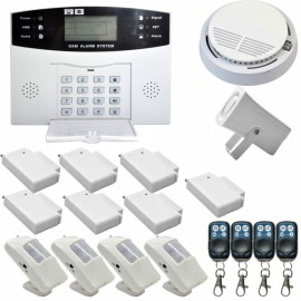 Danmini YA-500-GSM-y4 Wireless Remote Control GSM Home House Security Alarm System (US Plug)