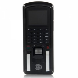F151 Color TFT Screen Fingerprint + Password + Induction Card Type Time Attendance Access Controller Security Entrance Guard Black