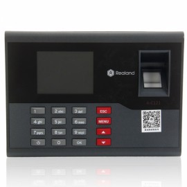 C121 Color TFT Screen Fingerprint + Password + Induction Card Type Time Attendance Machine Security Entrance Guard Black & Gray