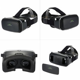 "Virtual Reality 3D Video Movie Head-mounted Game Glasses with Headband for 3.5-6.0"" Smart Phones Black"