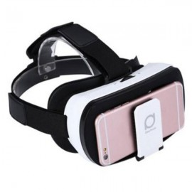 "Deepoon V3 Virtual Reality 3D VR Glasses Private Theater with Romote Controller for 3.5 - 6.0"" Smartphone White & Black"