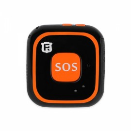 RF-V28 Built in Antenna Kids Child WiFi GPS LBS AGPS Tracker SOS Alarm Mini Locator Tracking Pendant - Orange+Black