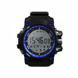 F2 Waterproof 2-Year Ultra Long Standby Outdoor Sports Pedometer Bluetooth Smart Watch Blue