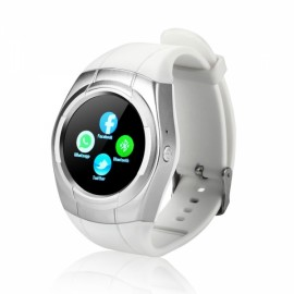 Fashionable Capacitive Touch Panel Waterproof Smartwatch White & Silver