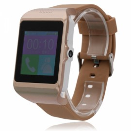 U-pro3 SIM Card Voice Recording Pedometer Push Notification Remote Shutter Bluetooth Smart Watch Golden