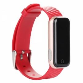 QS50 Heart Rate Monitor Smart Bluetooth Wristband Red