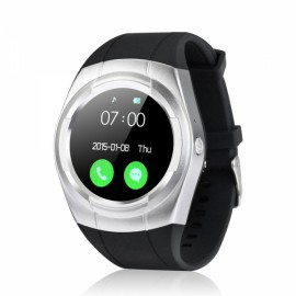Fashionable Capacitive Touch Panel Waterproof Smartwatch Black & Silver