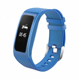 4-in-1 Waterproof Blood Pressure Heart Rate Blood Oxygen Fatigue BLE4.0 Smart Bracelet Blue