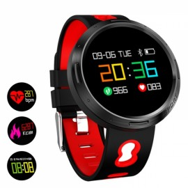 X9 VO Color LCD IP68 Waterproof Smart Bracelet Wristband Heart Rate Monitor Red