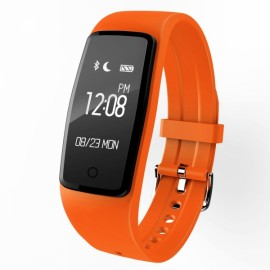 S1 Smart Bluetooth Bracelet Heart Rate Monitor Fitness Tracker Wristband Orange