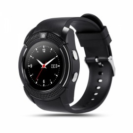 V8 MTK6261D 32M + 32M 0.3MP Camera Multifunctional Bluetooth Smart Watch Black