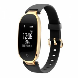 S3 Dynamic Heart Rate Waterproof Smart Bracelet Golden