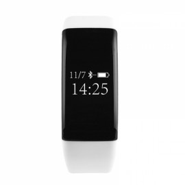 V66 Smart Bluetooth V4.0 Heart Rate Monitor Fitness Tracker Sports Bracelet White