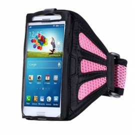 Running Gym Sport Mesh Armband Case for Samsung Galaxy S7 Edge Pink