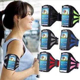 Running Gym Sport Mesh Armband Case for Samsung Galaxy S3/4/5/6/Edge Gray