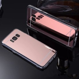 Plating Mirror Soft TPU Protective Back Case for Samsung Galaxy S8 Plus Rose Golden