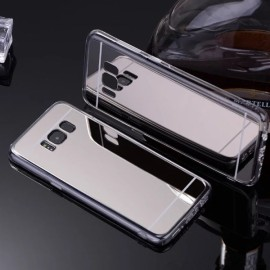 Plating Mirror Soft TPU Protective Back Case for Samsung Galaxy S8 Silver