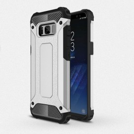 Armor Shockproof PC+TPU Double Protection Back Case For Samsung Galaxy 8 Silver
