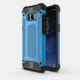 TPU PC Dual Layered Protection Back Cover Case for Samsung Galaxy S8 Blue