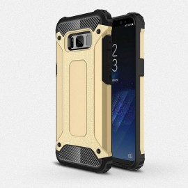Armor PC+TPU Double Layered Protection Back Cover Case for Samsung Galaxy S8 Golden