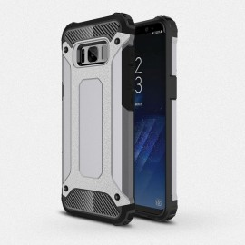 Armor PC+TPU Double Layered Shockproof Back Case for Samsung Galaxy S8 Gray