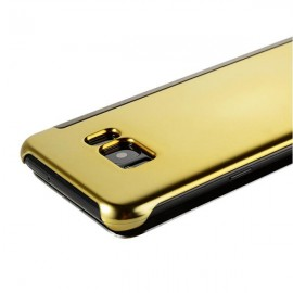 Smart Sleep Flip Full Body Case Electroplating Acrylic Mirror for Samsung Galaxy S8 Gold