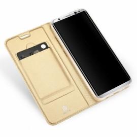 DUX DUCIS Flip Bracket Card Slot Magnetic Case for Samsung Galaxy S8 Gold