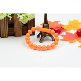 Colorful Acrylic Buddha Beads Bracelet Micro USB Cable for Samsung LG HTC Android  Smart Phones Orange