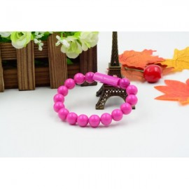Colorful Acrylic Buddha Beads Bracelet Micro USB Cable for Samsung LG HTC Android  Smart Phones Rose Red