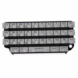 Replacement Keypad for BlackBerry 9981 Silver Gray