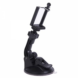 H029 90mm 360-Degree Rotatable Super Powerful Car Suction Cup Mount for Camera/GPS/iPhone/Samsung/HTC Black