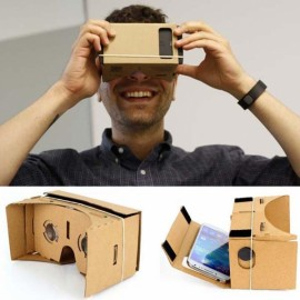 Popular Assembling Google Virtual Reality Cardboard with Resin Lens Set Tawny
