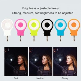 LED Selfie Sync Flash Light RK07 Fill In Spotlight for Smartphone iOS Android Samsung Note 3/4 5/5S/6/6S Huawei Xiaomi Black